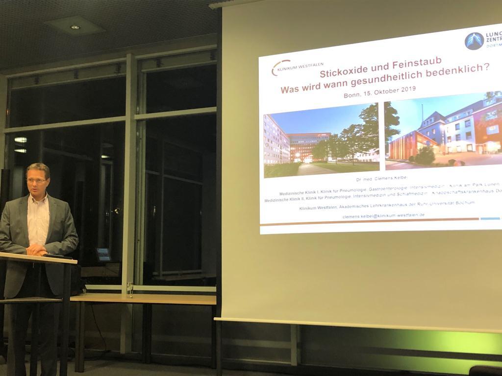 Die Dieseldebatte aus Sicht eines Pneumologen: Vortrag von Dr. Clemens Kelbel (15.10.2019)